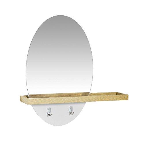 sobuy design spiegel wandspiegel badspiegel flurspiegel mit ablage und haken frg122 n rednalle. Black Bedroom Furniture Sets. Home Design Ideas