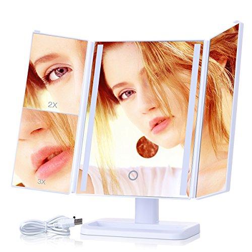kinden make up spiegel led beleuchtung kosmetikspiegel. Black Bedroom Furniture Sets. Home Design Ideas