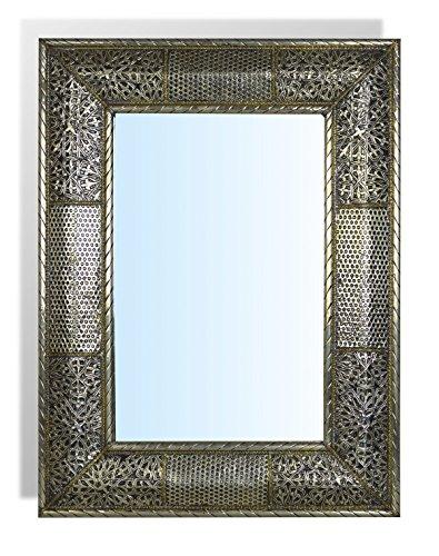 Spiegel extra gro rechteckige form silberfarbener for Spiegel extra