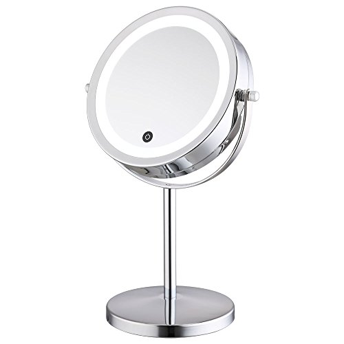 alhakin 1 5 fach 360 led touchscreen make up spiegel dimmbar durch touch sensor kosmetikspiegel. Black Bedroom Furniture Sets. Home Design Ideas