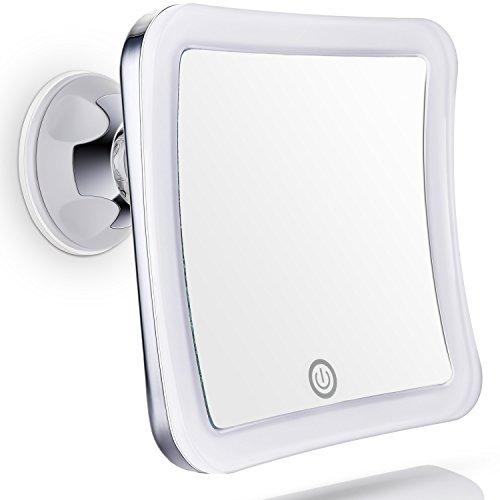 ecooe led 10 fache vergr erung duschspiegel rasierspiegel kosmetikspiegel 360 grad drehbarer. Black Bedroom Furniture Sets. Home Design Ideas