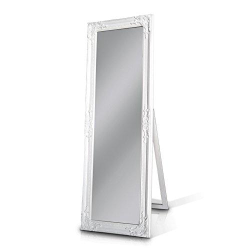 Wei er shabby chic spiegel zum hinstellen oder aufh ngen gro antik wei handgefertigt - Spiegel zum hinstellen ...