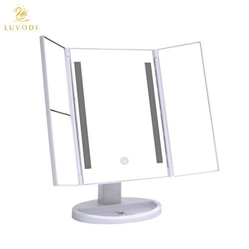 luvodi kosmetikspiegel schminkspiegel 3 seiten make up spiegel rasierspiegel touchscreen mit 36. Black Bedroom Furniture Sets. Home Design Ideas