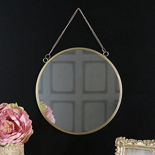 Vintage Gold Kreis Wandspiegel