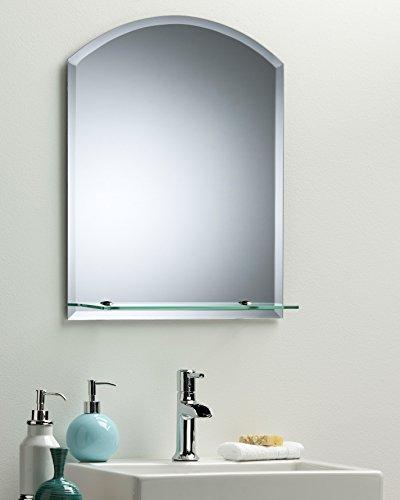 schöner rechteckiger badezimmerspiegel mit ablage modern