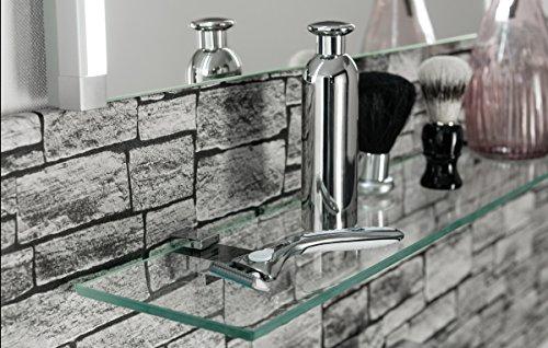 FACKELMANN Glasablage, Glas, Grau, 12 x 80 x 6 cm – RedNalle