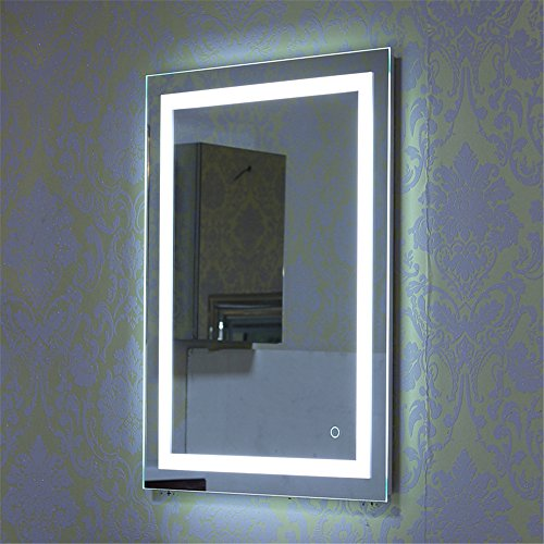 wandspiegel led badezimmerspiegel beleuchtet bad spiegel 500x700mm 600x800mm 22w kaltwei a. Black Bedroom Furniture Sets. Home Design Ideas