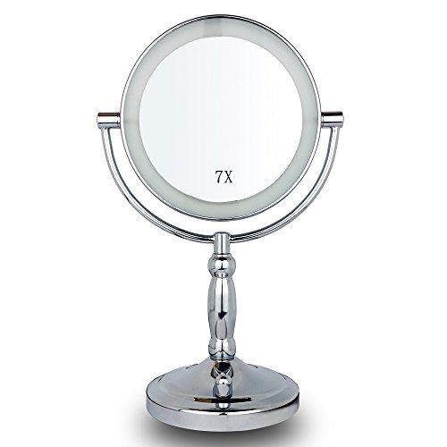 7x vergr erungsspiegel belichteter verfassungs spiegel led eitelkeits spiegel mit vergr erter. Black Bedroom Furniture Sets. Home Design Ideas