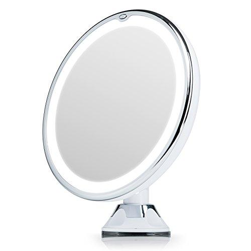 Kosmetikspiegel Mit Led Beleuchtung Und Vergrößerung   Beleuchteter Schminkspiegel Mit Tageslicht Beleuchtung Und Starkem