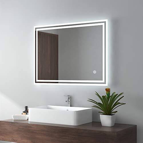 Badezimmerspiegel 60x80 mit Beleuchtung Badspiegel LED Spiegel Licht Wandspiegel